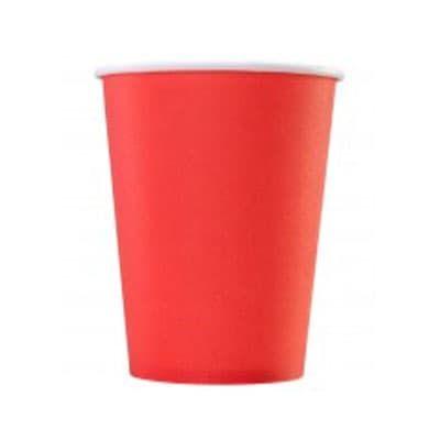 Стакан красный картон 0,165 литра 100 шт. в уп. фото
