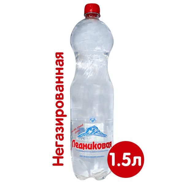 Вода Ледниковая минеральная 1.5 литра, без газа, пэт, 6 шт. в уп. фото