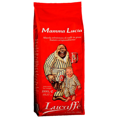 Кофе Lucaffe Mamma Lucia в зернах в/у 1 кг фото