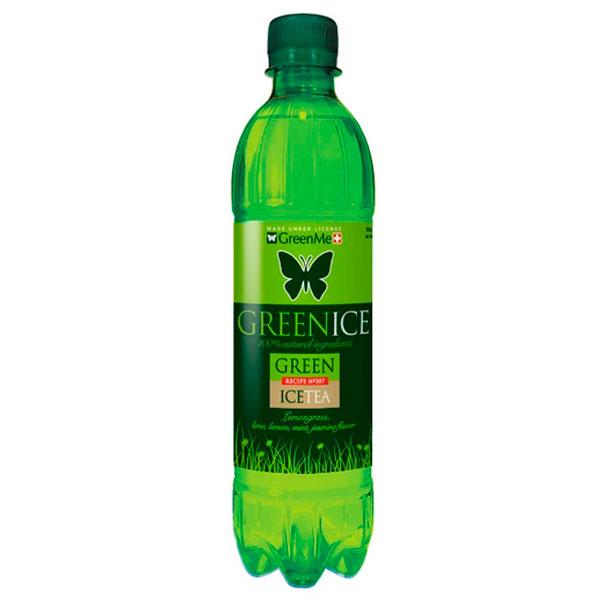 Холодный чай Green Ice зеленый 0.5 литра, без газа, пэт, 12 шт. в уп.