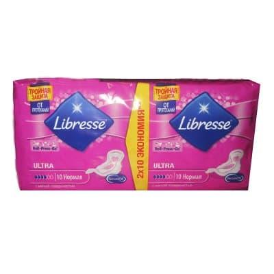 Прокладки Libresse ULTRA с мягкой поверхностью 4 капли 10шт