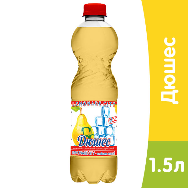 Lemonade City Дюшес, 1,5 литра, газ, пэт, 6 шт. в уп
