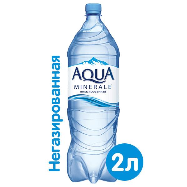 Вода Аква Минерале 2 литра, без газа, пэт, 6 шт. в уп.
