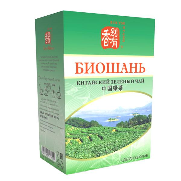 Чай китайский зеленый Биошань 80 гр фото