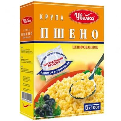 """Крупа Пшенная """"Увелка"""" 5пак*100г (2шт)"""