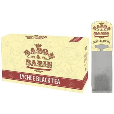 Чай саше для чайника Baron&Barin Lychee Black Tea (15 пак)