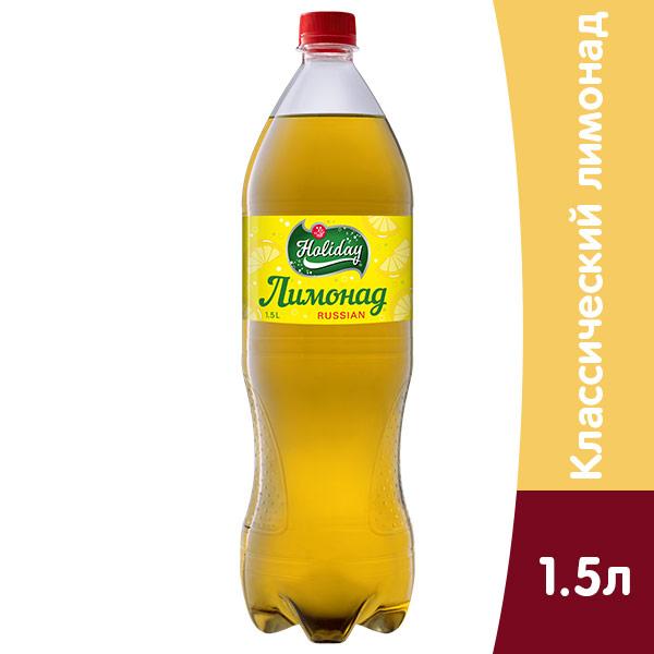 Напиток Holiday Лимонад 1.5 литра, газ, пэт, 6 шт. в уп. фото