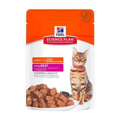 Консервы для кошек Hills говядина 85 гр (12 шт) фото