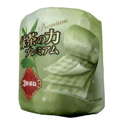 Туалетная бумага Marutomi Paper Co Пенгвин зеленый чай 3-х сл (1шт)