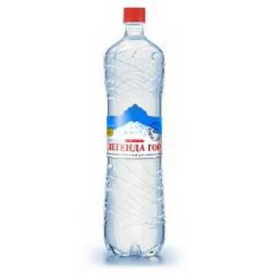 Вода Легенда гор 1.5 литра, газ, пэт, 6шт. в уп.