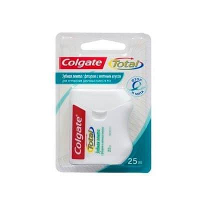 Зубная нить Colgate прохладная мята 25м