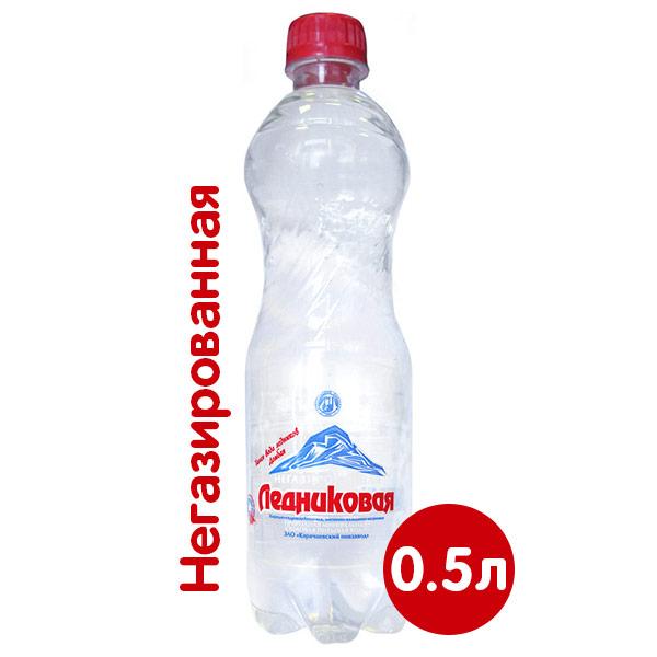 Вода Ледниковая минеральная 0.5 литра, без газа, пэт, 12 шт. в уп. фото