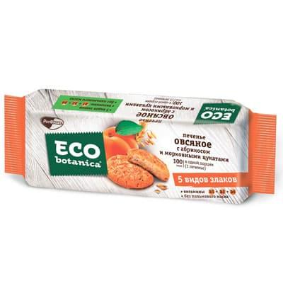 Печенье овсяное Eco Botanica с абрикосом и морковными цукатами 280 гр фото