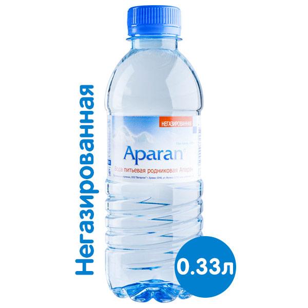 Вода Апаран 0.33 литра, без газа, пэт, 12 шт. в уп.