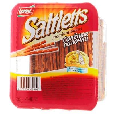 Снэки Saltletts / Солтлетс палочки с солью 150гр