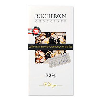 Шоколад Bucheron 72% миндаль, клюква и фисташки 100 гр