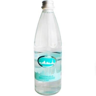 Вода Серафимов Дар 0.54 литра, газ, стекло, 8шт. в уп.