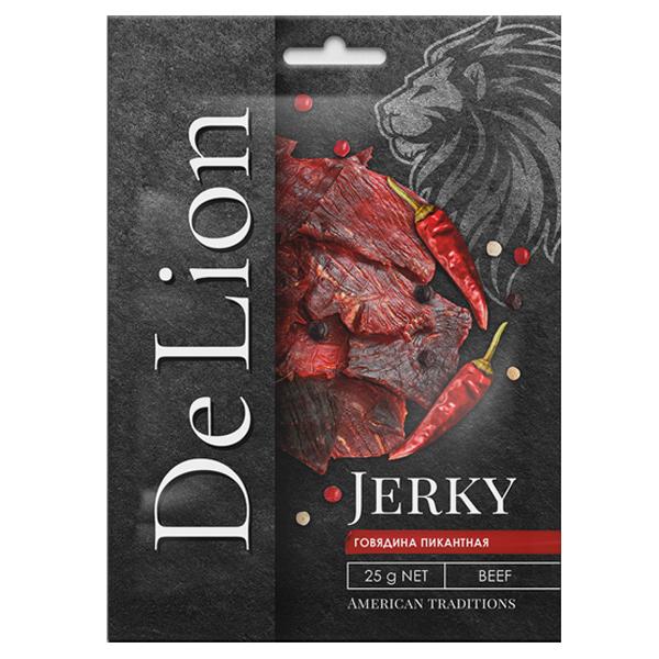 Сушеная говядина DeLion Jerky пикантная 25 гр