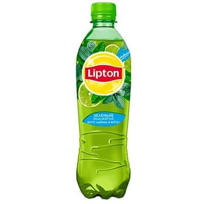 Lipton Ice Tea / Липтон Зеленый лайм и мята 0,5л пэт (12шт)