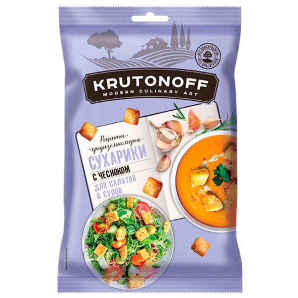 Сухарики для супов и салатов с чесноком Krutonoff 100 гр