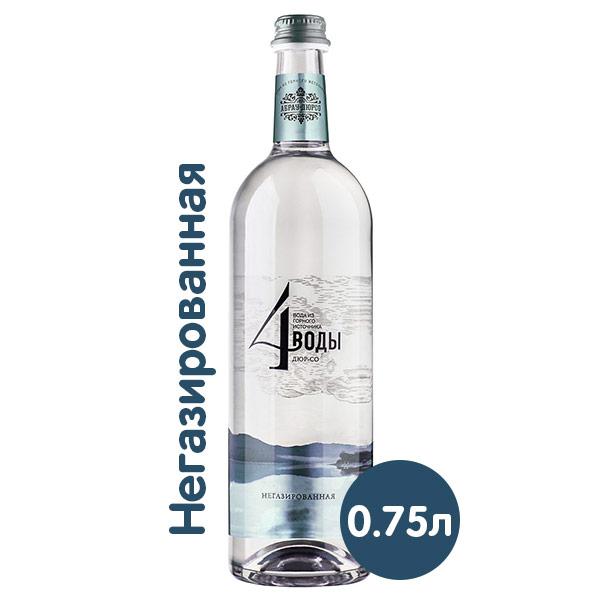 Вода 4 воды Абрау-Дюрсо 0.75 литра, без газа, стекло, 6 шт. в уп.