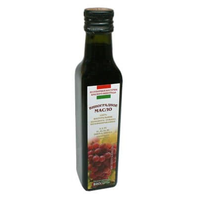 Масло из отборных косточек красного винограда 250 мл