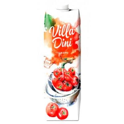 Сок Villa Dini томат 1 литр, 12 шт. в уп.