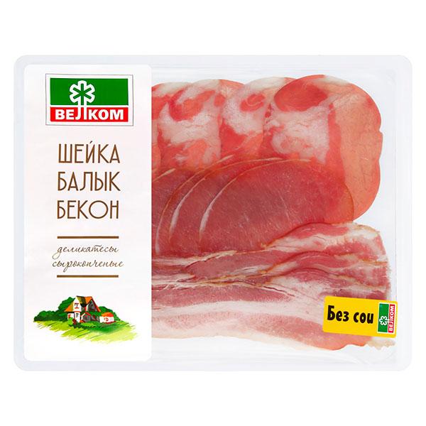Нарезка Шейка-Балык-Бекон Велком 150 гр
