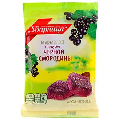 Мармелад Ударница со вкусом черной смородины 325 гр фото