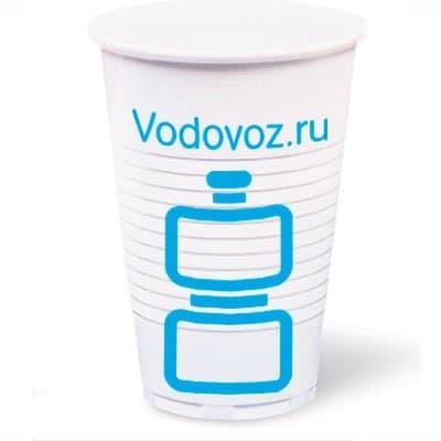 Стакан с логотипом одноразовый 0,2 литра 100 шт. в уп. фото