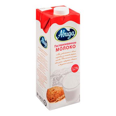 Молоко Авида пастеризованное 3,2% БЗМЖ 1 литр