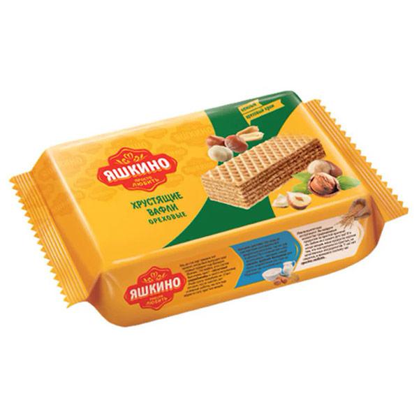 Вафли Яшкино ореховые 200 гр