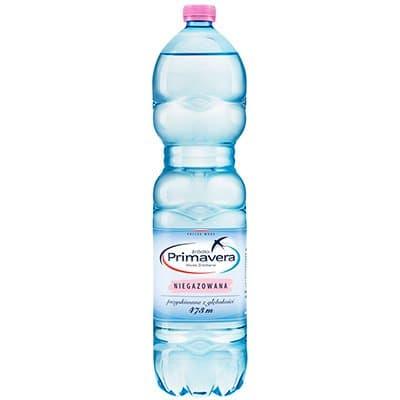 Вода Primavera 1.5 литра, без газа, пэт, 6шт. в уп.