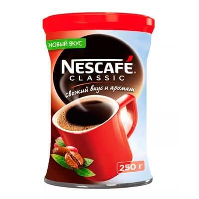 Nescafe / Нескафе classic растворимый ж/б (250гр)