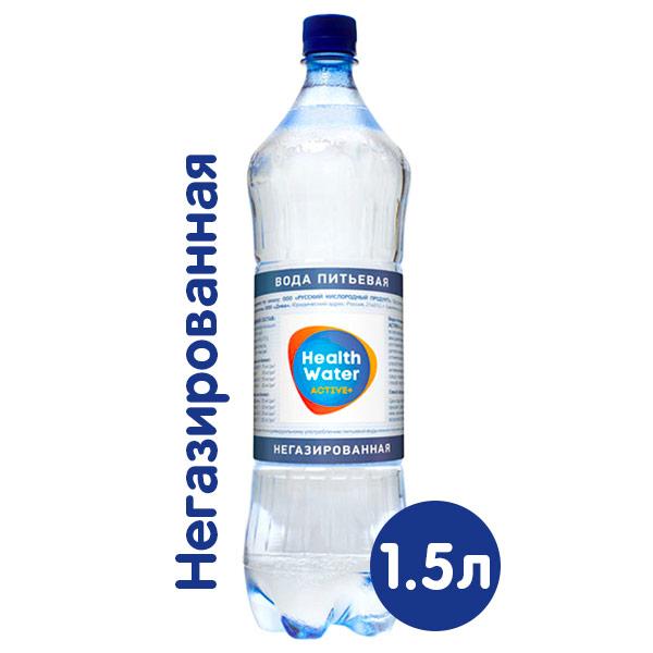 Health Water Active+ родниковая питьевая 1.5 литра, без газа, пэт, 6 шт. в уп. фото