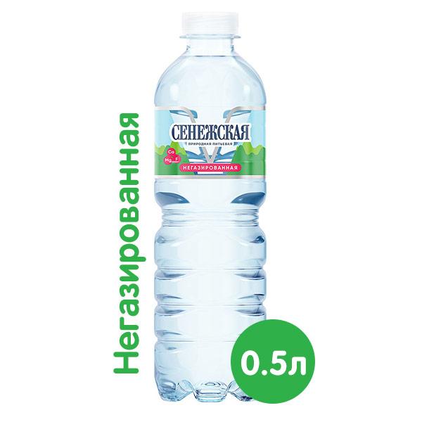 Вода Сенежская 0.5 литра, без газа, пэт, 12 шт. в уп.