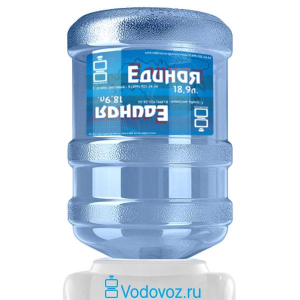 Вода Единая 18.9 литров фото