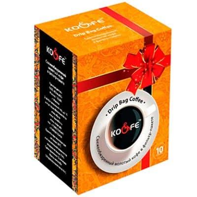 Drip Bag Coffee Шоколадный тоффи в подарочной упаковке свежеобжаренный молотый в фильтр-пакете 1уп. (10шт.)