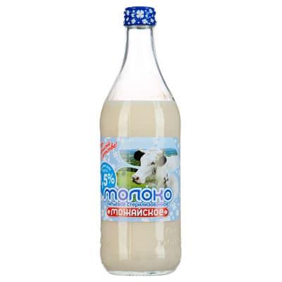 Молоко Можайское стерилизованное 1,5% БЗМЖ 0.45 литра, стекло фото