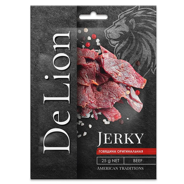 Сушеная говядина DeLion Jerky оригинальная 25 гр