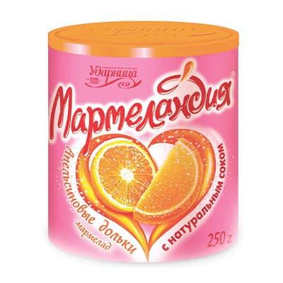Мармелад Мармеландия апельсиновые дольки 250 гр фото