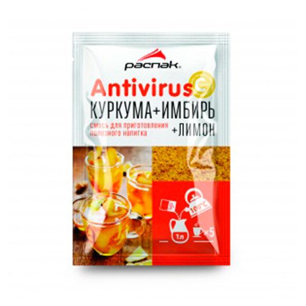 Напиток Antivirus концентрированный с куркумой, имбирем и лимоном 16х75 гр