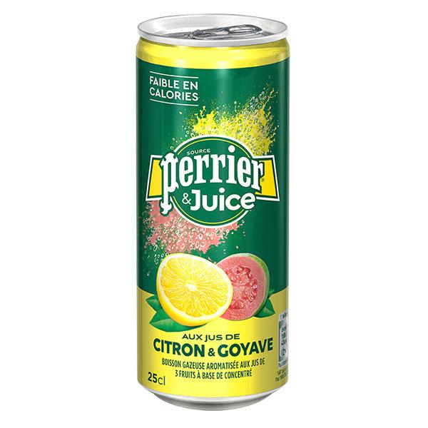 Вода Perrier лимон-гуава 0.25 литра, газ, ж/б, 24 шт. в уп.