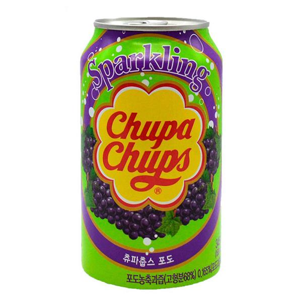 Chupa Chups / Чупа Чупс Grape cream импорт 0.345 литра, ж/б, 24 шт. в уп.