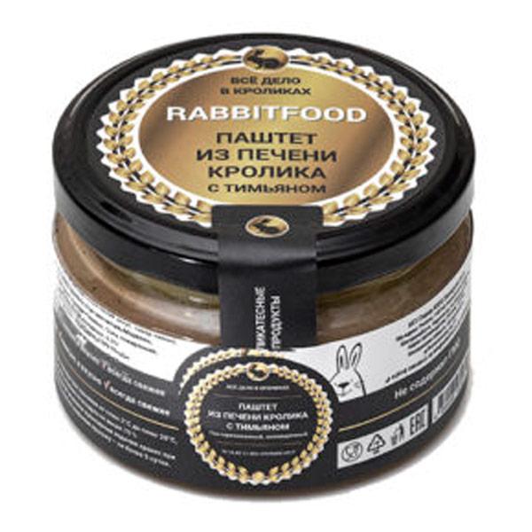 Паштет из мяса кролика Rabbit food с тимьяном 200 гр