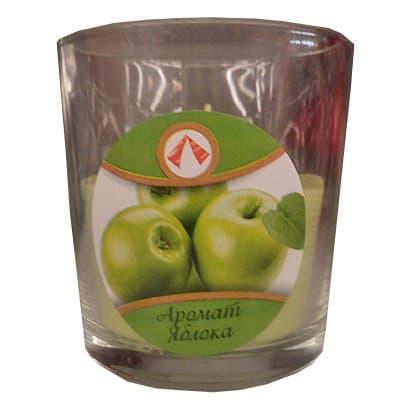 Свеча в стакане арома яблоко 150гр