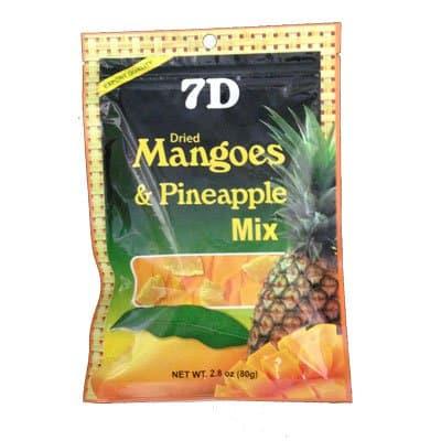 Смесь сушеных кусочков манго и ананаса 7D 80гр