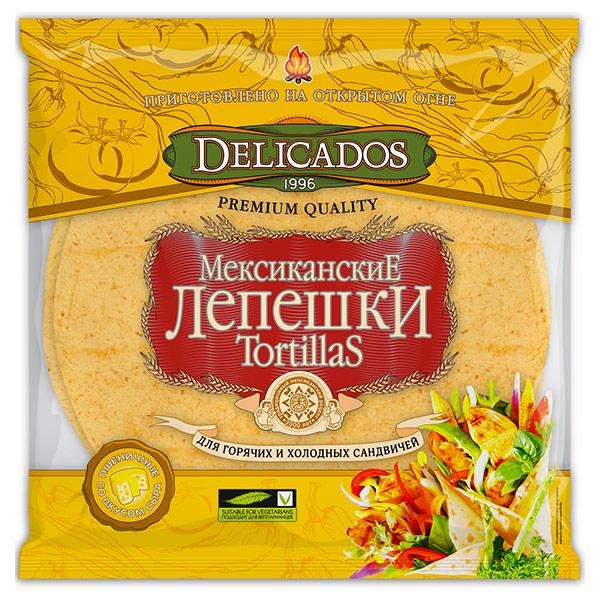 Тортилья Delicados с сыром 400 гр