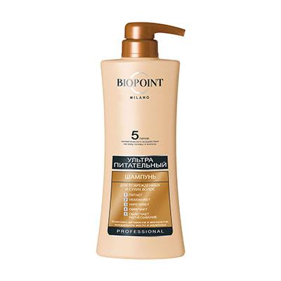Купить со скидкой Шампунь Biopoint Ультра питательный для поврежденных и сухих волос 400 мл
