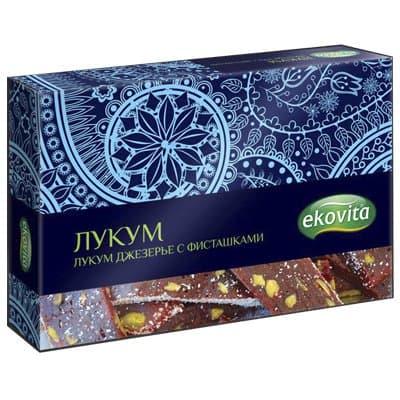 Лукум Ekovita джезерье с фисташками 125гр